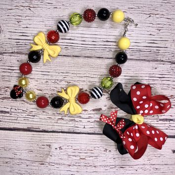 RTS Minne Mouse Necklace!