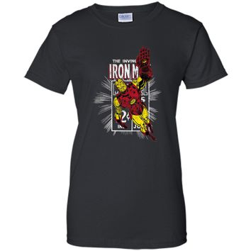 Iron Man Comic Book Cover Graphic T-Shirt