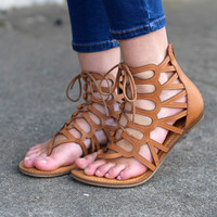 The Salina Sandal {Cognac}