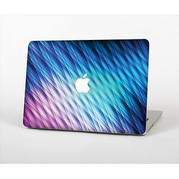 The Vibrant Blue and Pink Neon Interlock Pattern Skin Set for the Apple MacBook Pro 15""