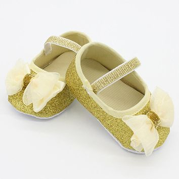 Baby Girls Lace Shoes Toddler Casual Cotton Fabric Shoes For Kids Girls Prewalker Anti-Slip First Walkers Bow knots Baby Shoes