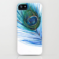 Peacock Feather I iPhone Case by Mai Autumn  | Society6