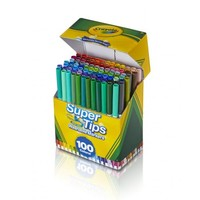 Crayola Super Tips Fine Line Washable Markers, 100 Count - Walmart.com
