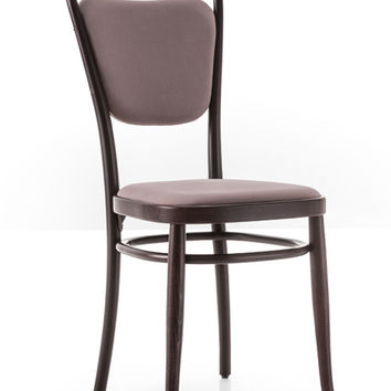 Gebruder Thonet Vienna 144 Closed Back Bentwood Side Chair (Upholstered) by GTV