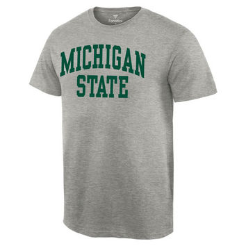 Men's Gray Michigan State Spartans Basic Arch T-Shirt