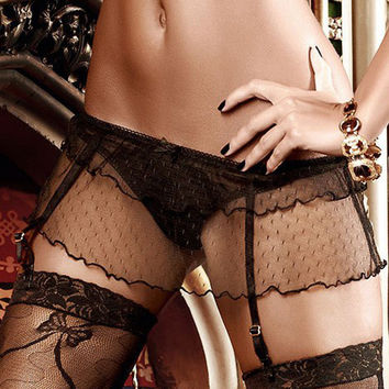 Hot Deal On Sale Cute Sexy Panties Socks Set Exotic Lingerie [6596436995]