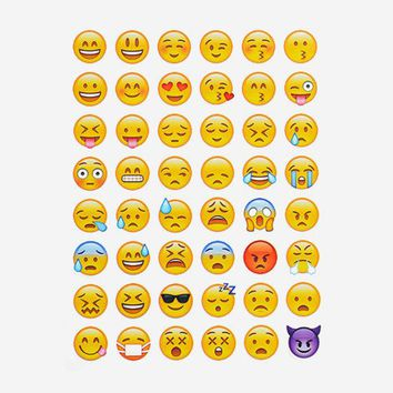 DCCKL72 1sheet 48 Emoji Smile Face Diary Stickers Post It Kawaii Planner Memo Scrapbooking Sticker Stationery 2017 New School Supplies