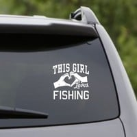 DABBLEDOWN DECALS This Girl Loves Fishing Decal Sticker Car Window Truck Laptop Tablet