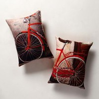 Tandem Pillows by Anthropologie Red 18 X 14.5 Bedding