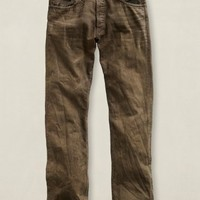 Low Straight Brown Denim