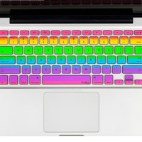 """Kuzy - Rainbow Keyboard Cover Silicone Skin for MacBook Pro 13"""" 15"""" 17"""" (with or w/out Retina Display) iMac and MacBook Air 13"""" - Rainbow:Amazon:Computers & Accessories"""
