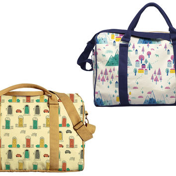 Winter Pattern Printed Oversized Canvas Duffle Luggage Travel Bag WAS_42