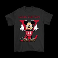 QIYIF Louis Vuitton Disney Mickey Mouse Shirts