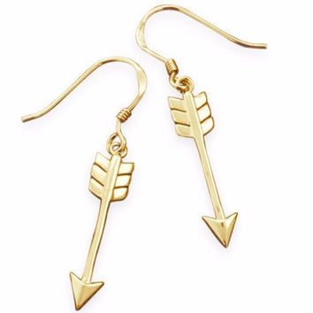 Aim High Arrow Earrings in Silver or Gold Plated