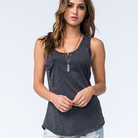Others Follow Womens Pocket Tank Black  In Sizes