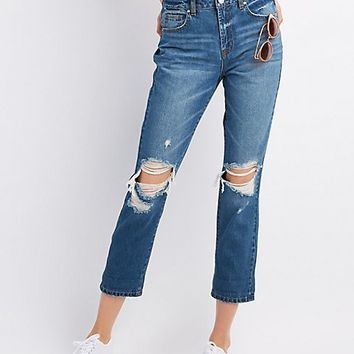 Refuge Destroyed Boyfriend Jeans | Charlotte Russe