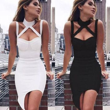 DCKL9 Prom Dress Bandages Dress Club Sexy One Piece Dress [13536362522]