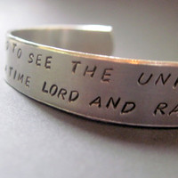 Doctor Who Inspired Bracelet - I Stole A Time Lord - Hand Stamped Aluminum Cuff - customizable