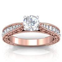 Rose Gold Engagement Ring Setting  14k by RoseGoldCreations