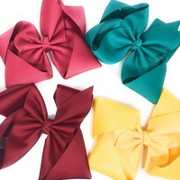 Girls Large Chunky Hair bow