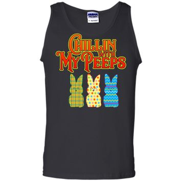 Chillin With My Peeps T-shirt Funny Easter Bunny Rabbit Tee Tank Top