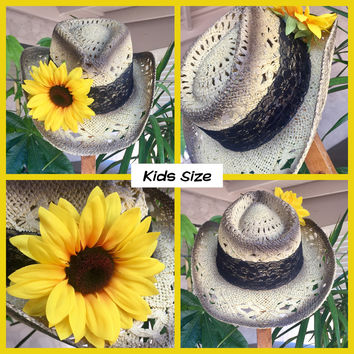 Black Lace & Sunflower Country Crown KIDS SIZE