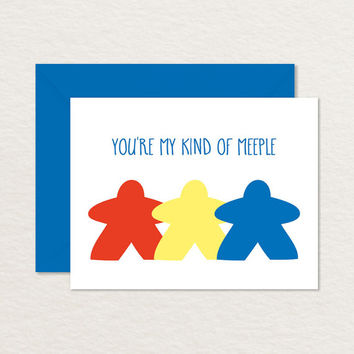 You're My Kind of Meeple A2 Printable Greeting Card / Relationship Card / Friendship Card / Nerdy Printable