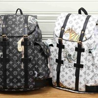 LV fashion letters backpack cool[380485140516] F