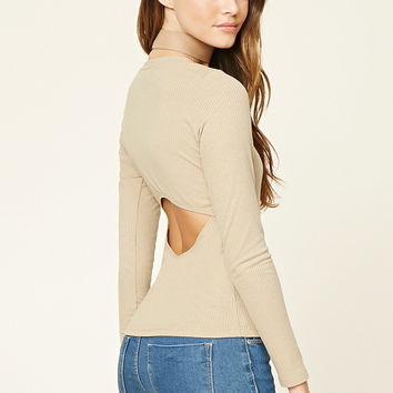 Ribbed Cutout Top