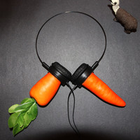 crazy carrot  headphones