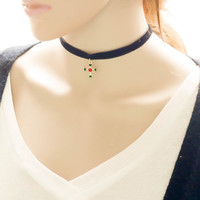 Shiny Gift Jewelry Faux Suede New Arrival Stylish forever21 choker Ladies Vintage Cross Rack Korean Chain Innovative Necklace [7786528327]