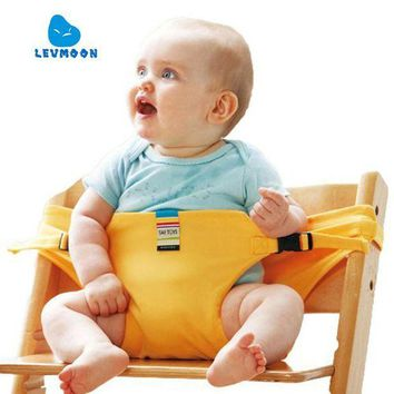 CREYLD1 Levmoon Chair Portable Seat Dining Lunch Chair Seat Safety Belt Stretch Wrap Feeding Chair Harness Seat Booster