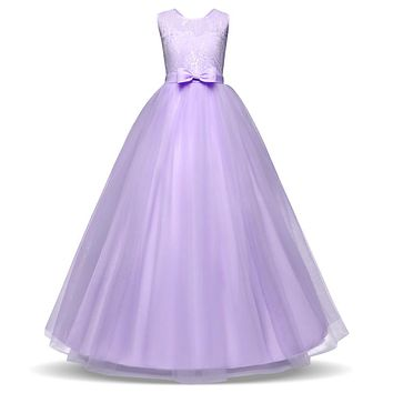 Kid Girls Princess Party Ball Gown 14 Teen Girls Dresses Wedding Party Long Dress Children Clothing Christmas Halloween Costumes