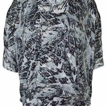 Alex Evenings Women's 2PC Slouchy Metallic Blouse Set