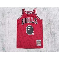 Bape x Mitchell & Ness ABC Basketball Swingman Jersey - Bulls