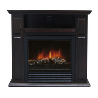Electric Fireplace Space Heater with Realistic Flame