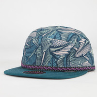 Official Jetty Camp Mens 5 Panel Hat Teal Green One Size For Men 23270651201