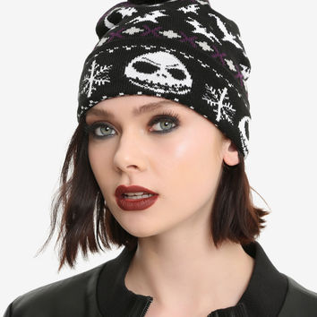 The Nightmare Before Christmas Jack Fair Isle Pom Beanie