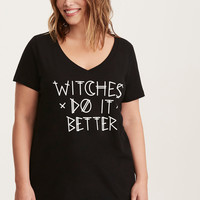 Halloween Witches Do it Better V-Neck Tee