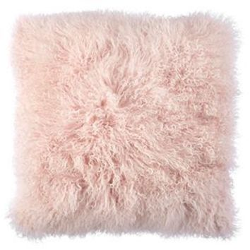 Light Pink Mongolian Fur Pillow | Z Gallerie