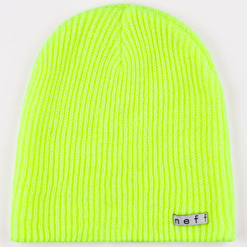 Neff Daily Beanie Neon Yellow One Size For Men 24590054601