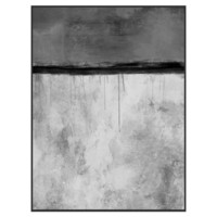 Abstract Grays Framed Giclee Print