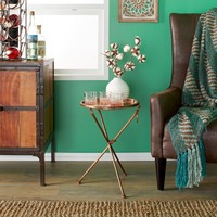 Small Collapsible Copper Cocktail Tray Table | Overstock.com Shopping - The Best Deals on Coffee, Sofa & End Tables