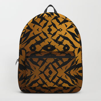 Yellow tribal shapes pattern Backpack by steveball