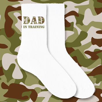 Custom Printed Socks for Fathers Day Dad in Training - Sold as a set of 3 pairs