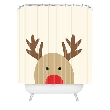 Allyson Johnson Reindeer Shower Curtain