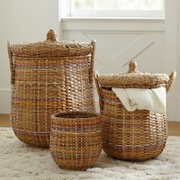 Woven Multi-Colored Baskets, X-Large