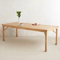 Calligrapher Dining Table by Anthropologie Brown One Size Furniture
