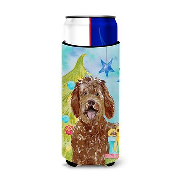 Christmas Tree Labradoodle Michelob Ultra Hugger for slim cans CK1874MUK