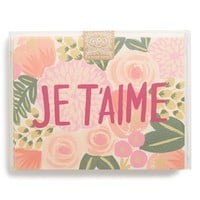 Junior Women's Rifle Paper Co. 'JE T'AIME' Note Cards (Set of 8)